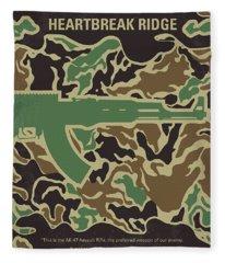 No747 My Heartbreak Ridge Minimal Movie Poster Fleece Blanket