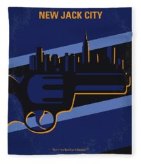 No762 My New Jack City Minimal Movie Poster Fleece Blanket