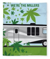 No763 My We Are The Millers Minimal Movie Poster Fleece Blanket