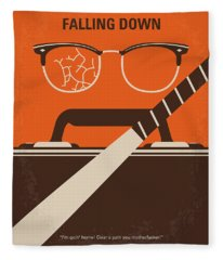 No768 My Falling Down Minimal Movie Poster Fleece Blanket