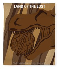 No773 My Land Of The Lost Minimal Movie Poster Fleece Blanket