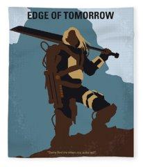 No790 My Edge Of Tomorrow Minimal Movie Poster Fleece Blanket