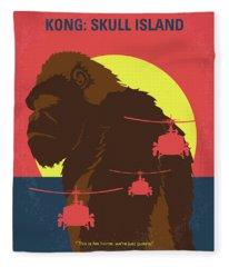 No799 My Skull Island Minimal Movie Poster Fleece Blanket