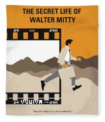No806 My The Secret Life Of Walter Mitty Minimal Movie Poster Fleece Blanket