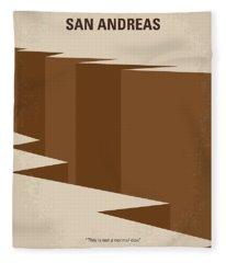 No810 My San Andreas Minimal Movie Poster Fleece Blanket