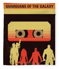 No812 My Guardians Of The Galaxy Minimal Movie Poster Fleece Blanket