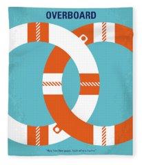 No815 My Overboard Minimal Movie Poster Fleece Blanket