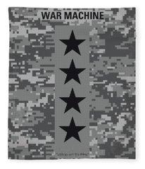 No817 My War Machine Minimal Movie Poster Fleece Blanket