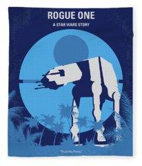 No819 My Rogue One Minimal Movie Poster Fleece Blanket