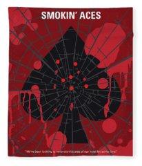 No820 My Smokin Aces Minimal Movie Poster Fleece Blanket