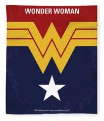 No825 My Wonder Woman Minimal Movie Poster Fleece Blanket