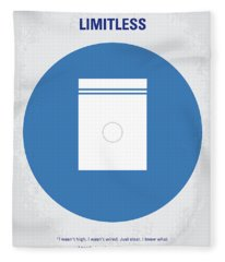 No828 My Limitless Minimal Movie Poster Fleece Blanket