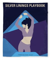 No832 My Silver Linings Playbook Minimal Movie Poster Fleece Blanket