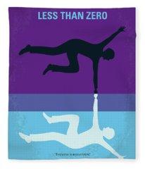 No848 My Less Than Zero Minimal Movie Poster Fleece Blanket