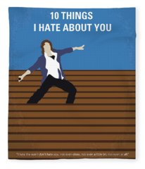 No850 My 10 Things I Hate About You Minimal Movie Poster Fleece Blanket