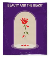 No878 My Beauty And The Beast Minimal Movie Poster Fleece Blanket