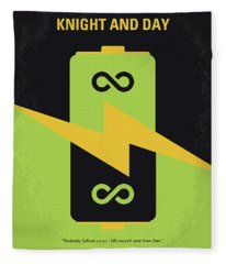 No899 My Knight And Day Minimal Movie Poster Fleece Blanket