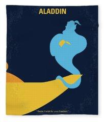 No920 My Aladdin Minimal Movie Poster Fleece Blanket