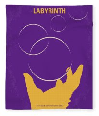 No928 My Labyrinth Minimal Movie Poster Fleece Blanket