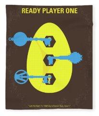 No929 My Ready Player One Minimal Movie Poster Fleece Blanket
