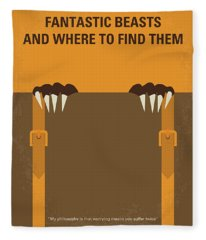 No962 My Fantastic Beasts And Where To Find Them Minimal Movie Poster Fleece Blanket