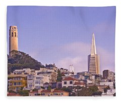 Nob Hill At Sunset Fleece Blanket