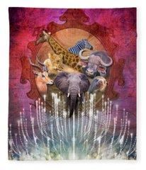 Noble Creatures Fleece Blanket