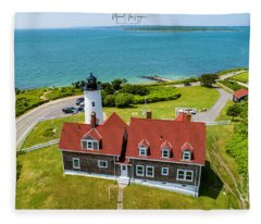 Nobska Light House  Fleece Blanket