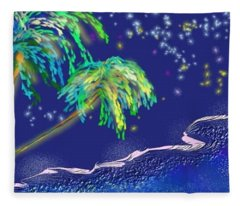 Noche Tropical Fleece Blanket