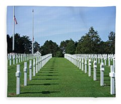 Normandy Memorial Cemetery - There Are No Words Fleece Blanket
