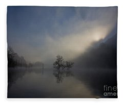 Norris Lake April 2015 Fleece Blanket