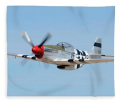 North American P-51d Mustang Nl5441v Spam Can Valle Arizona June 25 2011 1 Fleece Blanket