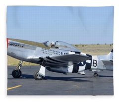 North American P-51d Mustang Nl5441v Spam Can Valle Arizona June 25 2011 3 Fleece Blanket