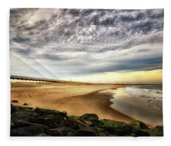 North Beach At Indian River Inlet Fleece Blanket