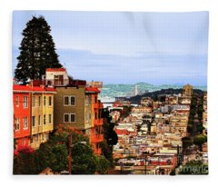 Looking Toward North Beach Fleece Blanket