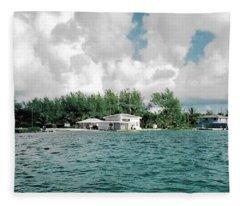 North Bimini Airport Fleece Blanket