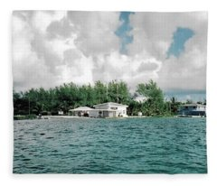 North Bimini Airport Fleece Blanket