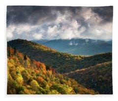 North Carolina Mountains Asheville Nc Autumn Sunrise Fleece Blanket