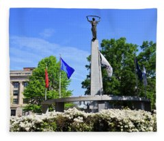 North Carolina Veterans Monument Fleece Blanket
