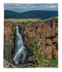 North Clear Creek Falls, Creede, Colorado Fleece Blanket