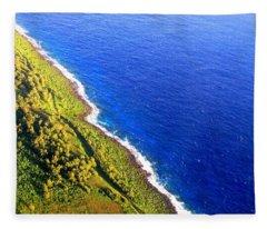 North Coast Of Tinian At Sunrise Fleece Blanket