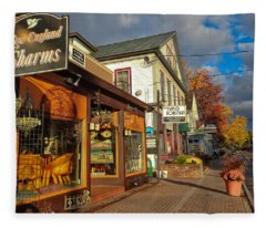 North Conway Village 3 Fleece Blanket