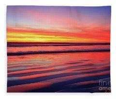Oceanside Sand Ripples Fleece Blanket