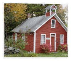 North District School House - Dorchester New Hampshire Fleece Blanket