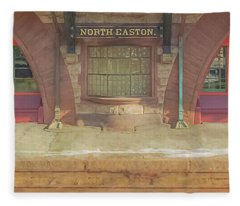 North Easton Train Station At Solstice Fleece Blanket