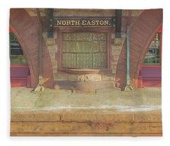 North Easton Train Station At Solstice Fleece Blanket