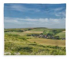 North French Scenery Fleece Blanket