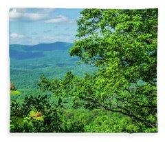 North Georgia Mountains Fleece Blanket