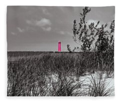 North Muskegon Lighthouse  In Michigan Select Color Fleece Blanket