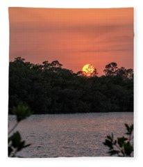 North Port Sunset Fleece Blanket